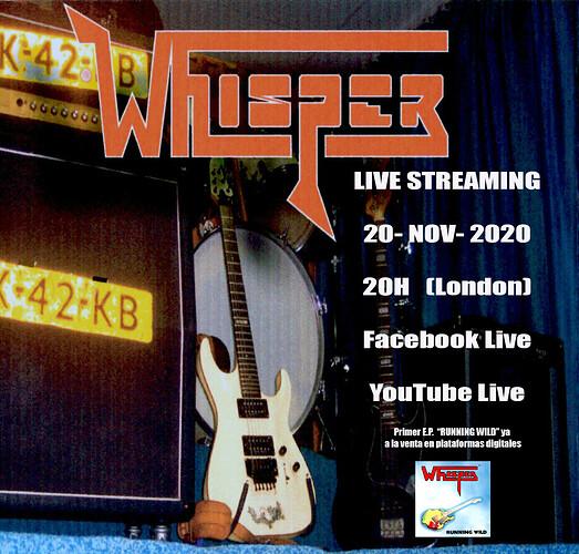 WHISPER S R live streaming